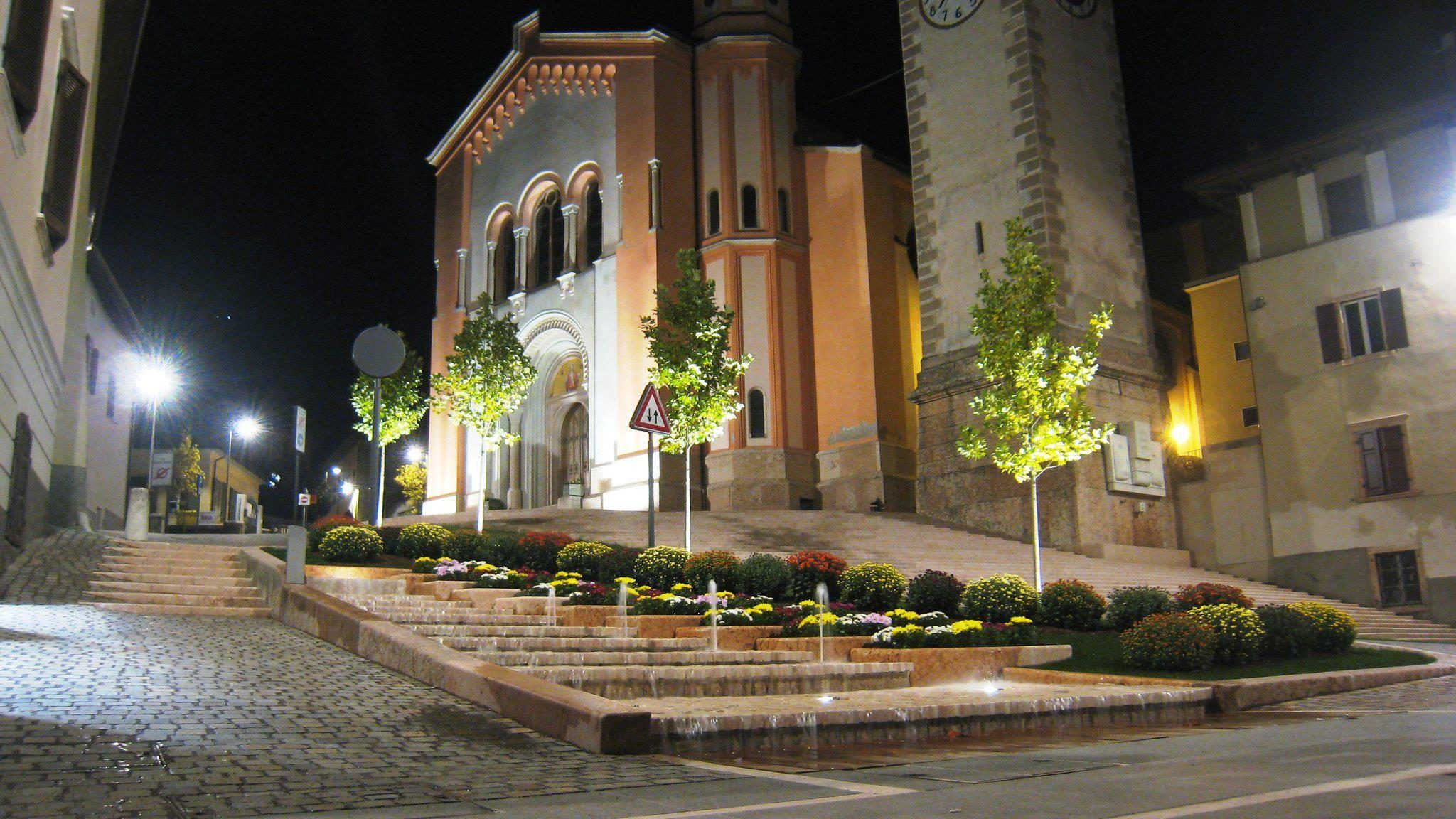 Il centro di Levico Terme